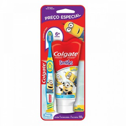 Kit Colgate Escova Dental Minions + Gel Dental Minions 100 g