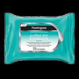 Lenço Micelar Neutrogena Purified Skin Com 25 Und