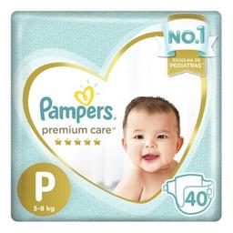 Pampers Premium Care Tamanho Pequeno Com 40 Tiras