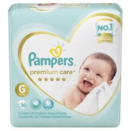 Fralda Pampers Premium Care Tamanho Grande Com 30 Tiras
