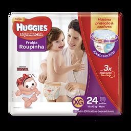 Fralda HUGGIES  Roupinha Supreme Care XG - 24 fraldas