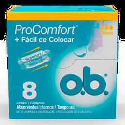 Absorvente Interno Procomfort O.B Médio Com 8 Und