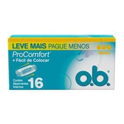 Absorvente Ob Médio Pro Comfort Com 16 Und Leve+Pague-