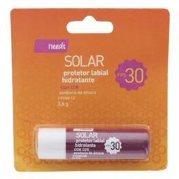 Protetor Labial Hidratante Needs Solar com Cor F30