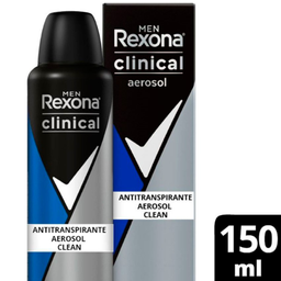 Antitranspirante Rexona Men Clinical Aerosol Clean 96H 150 mL