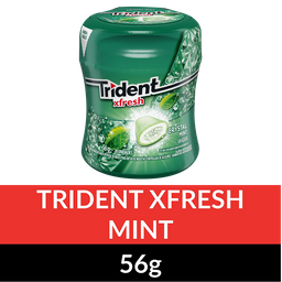 Gomas de Mascar TRIDENT FX Garrafa Mint 56g