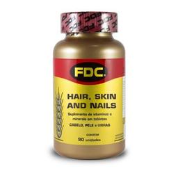 Polivitaminico Fdc Para Cabelos, Pele E Unha Com 90 Comprimidos