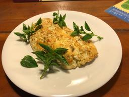 Omelete de Mussarela com Manjericão