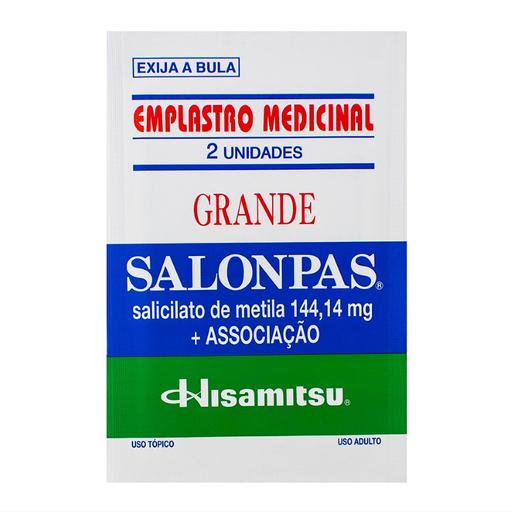 Salonpas Emplastro Grande 13cm x 8,4cm com 2 Und