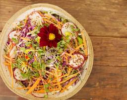Salada de Folhas com Parmesão Vegano