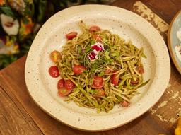 Spaguetti de Palmito Pupunha e Abobrinha