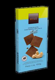 Tablete ao Leite Diet com Castanha-de-caju - 100g