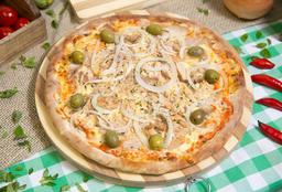Pizza Atum + Pizza Doce + Refrigerante 2L