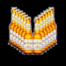 12x Cerveja Império Pilsen Long Neck 275 mL