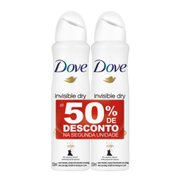 Desodorante Dove Invisible Dry Aerosol 50% Desconto na 2ª Und