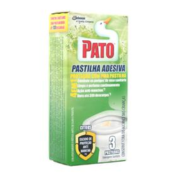 Desodorizador Sanitário Pastilha Adesiva Pato Citrus Caixa 3 Und