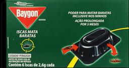 Inseticida Baygon Iscas Mata Baratas 2,6 g 6 Und