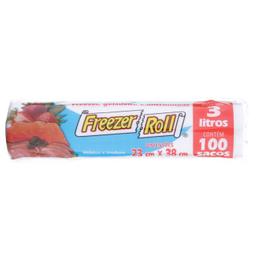 Sacos para Freezer e Micro-Ondas Roll 3 L com 100 Und