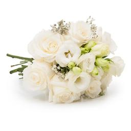 Buquê White Surprise com Flores Brancas P