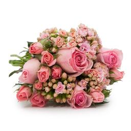 Buquê Pink com Flores Cor de Rosa P