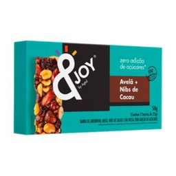 Barra de Cereal Zero Avelã Nibs Cacau &Joy Agtal 50 g