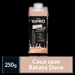 Bebida Lactea Com 15G De Proteína Yopro Coco E Batata Doce 250Ml