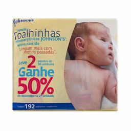 Kit Toalhinhas Umedecidas Johnson's Baby Recém-Nascido