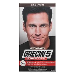 Shampoo Tonalizante Grecin 5 Preto 60 g