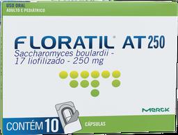 Remédio Floratil At 250Mg Adulto E Pediátrico 10 Cápsulas