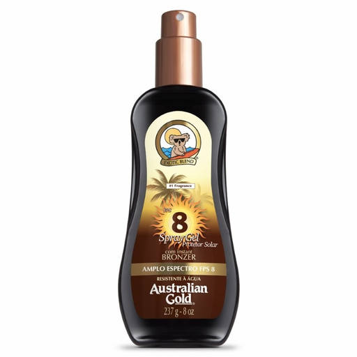 Protetor Solar Australian Gold FPS 8 Spray Gel 237 g