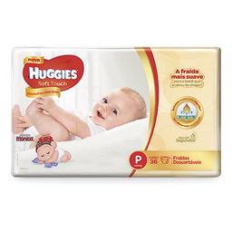 Fralda HUGGIES Soft Touch P - 36 fraldas