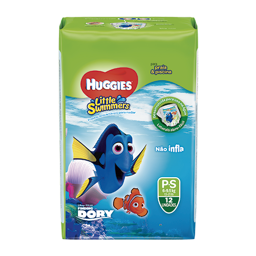 Fralda HUGGIES Little Swimmers P - 12 Fraldas