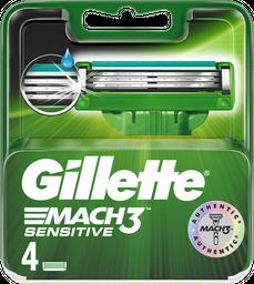 Lâminas de Barbear Gillette Carga Mach3 Sensitive 4 U