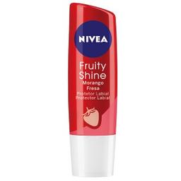 Protetor Labial Nivea Lip Care Hidratação Sabor De Morango 4,9 g