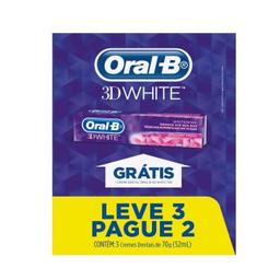 Kit Creme Dental Oral B 3D White 70 g Leve 3 Pague 2