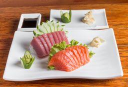 Sashimi de Salmão e Atum - 16 Peças