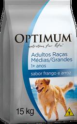 Ração Optimum Cães Raças Médias e Grandes Frango/Arroz 15 kg
