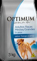 Ração Optimum Cães Adultos Raças Médias/Grandes Frango/Arroz 3kg