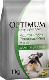 Ração Optimum Cães Adultos Raças Peq e Minis Frango e Arroz 1 kg