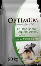 Ração Optimum Cães Raças Pequenas e Minis Frango e Arroz 20 kg