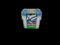 Ziploc Conjunto Com 3 Potes Herméticos Quadrados
