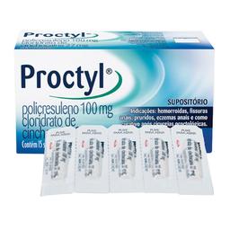 Proctyl Com 15 Supositórios