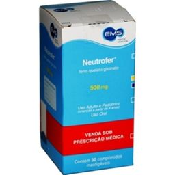 Neutrofer 500mg Com 30 Comprimidos