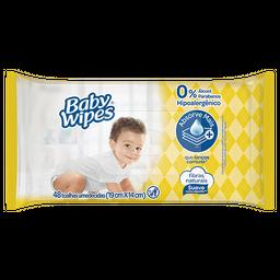 Lenços Um. Flow Pack Wipes Amarelo Baby Wipes 48un - Regular