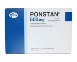 Ponstan 500mg Pfizer 24 Comprimidos