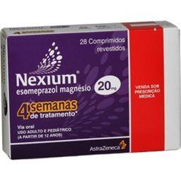 Nexium AstraZeneca 20 mg Com 28 Comprimidos