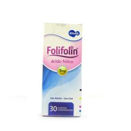 Folifolin 5mg Com 30 Comprimidos