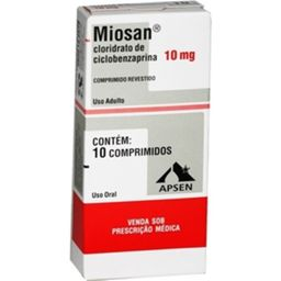 Miosan 10mg Com 10 Comprimidos