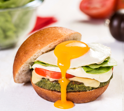 Veggie Burger Com Ovo Orgânico