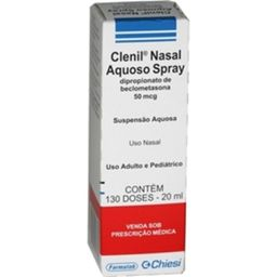 Chiesi Clenil Aquoso Spray Nasal Frasco 20mL 130 Doses
